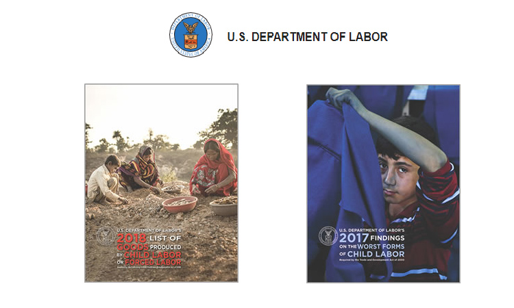 U.S. Department of Labor releases Reports on Child Labor and Forced Labor around the World