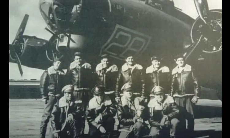 "The crew of the American B-17 Flying Fortress of the 305th Bomb Group, call sign ""Mi Amigo"""