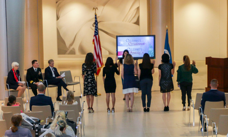Six women are the newest US citizens in this ceremony