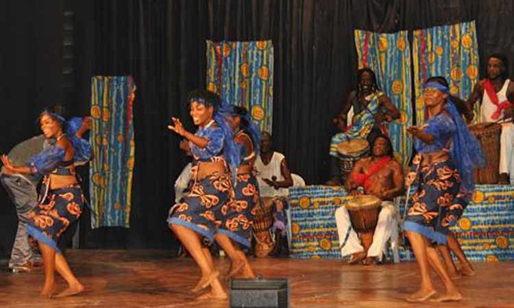 Female dancers during the show. (State Dept. Images)