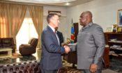 L'administrateur de l'USAID, Mark Green, et le président de la RDC, Felix Tshisekedi