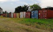 Les conteneurs vides 40 pieds