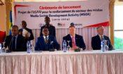 L'ambassadeur Mike Hammer et le directeur de mission de l'USAID, Paul Sabatine, au lancement du MSDA.