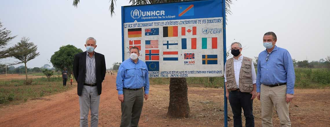 U.S. Ambassador and USAID Mission Director Visit Refugees in Nord Ubangi