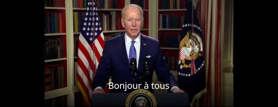 Allocution vidéo du président Joe Biden devant le 34e Sommet de l'Union africaine