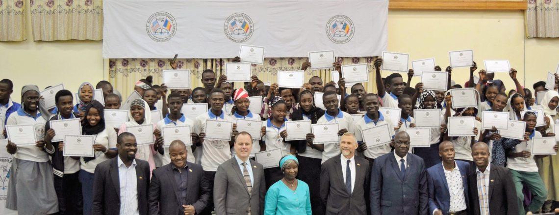 Chargé Bell Congratulates English Access Graduates