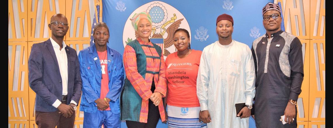 Chad's Mandela Washington Fellows Meet the Press