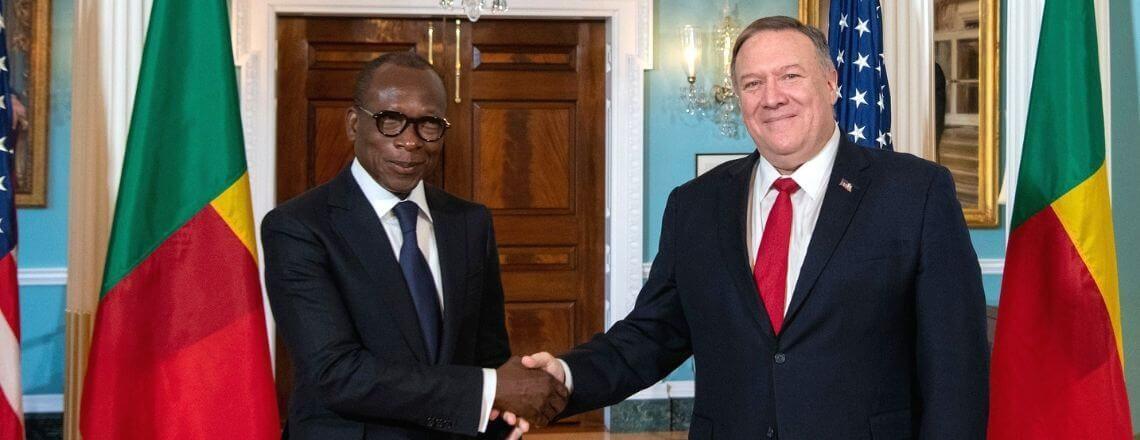 Rencontre du Secrétaire d'Etat Pompeo avec le Président Talon