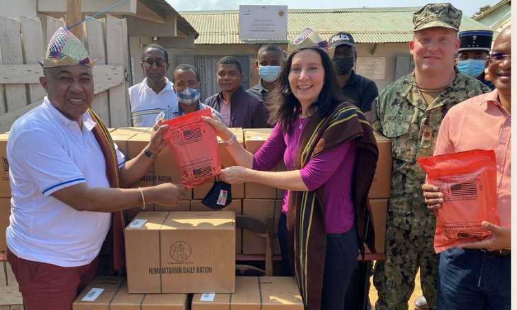U.S. Department of Defense Donates 300,000 Pre-Packed Humanitarian Meals to Southern Madagascar