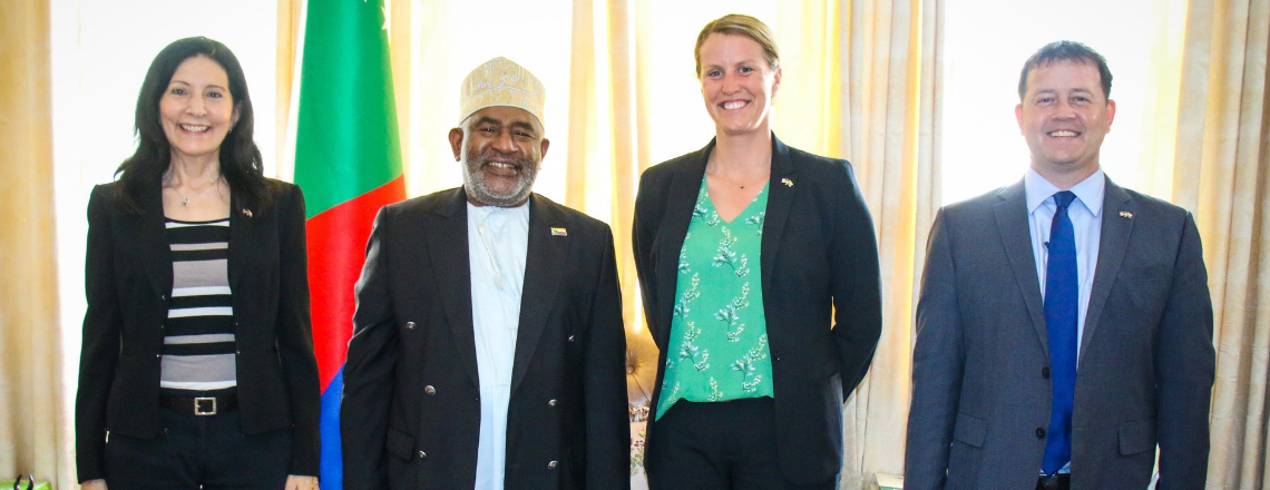 La Chargée d'Affaires Américaine a visité les Comores le 3 au 8 octobre dernier