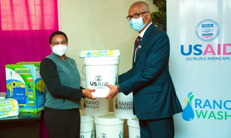 U.S. government donated equipment to the Ministry of WASH through USAID Rano Wash project.