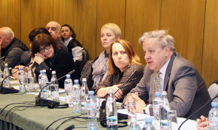 Ambassador Kelly during his remarks at Media Advocacy Coalition Meeting. Photo: State Dept