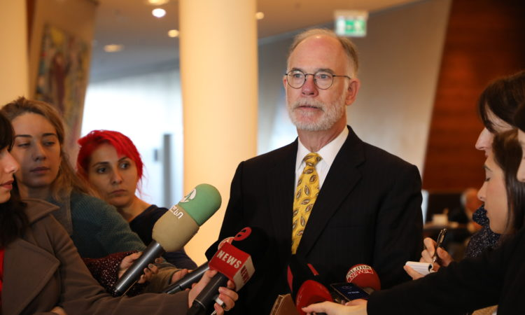 CDA Ross Wilson's Remarks to Media at Hepatitis C TAG Meeting. Photo: State Dept