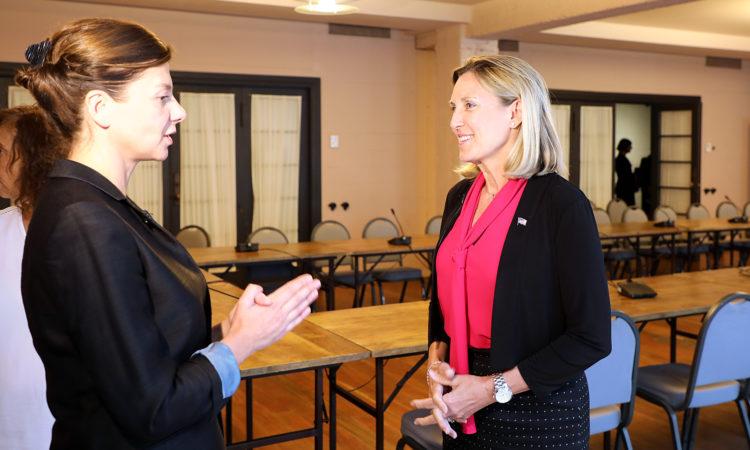 Under Secretary Thompson's interview with Tabula's Tamara Chergoleishvili. Photo: State Dept