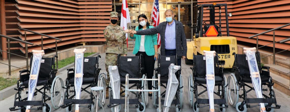 U.S. Embassy donates walking aids for disabled people in Mtskheta-Mtianeti