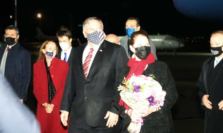 Secretary Pompeo and Mrs. Pompeo arrive in Tbilisi