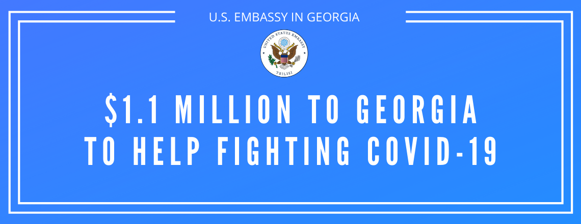 The United States is providing $1.1 Million in Health funding to Georgia