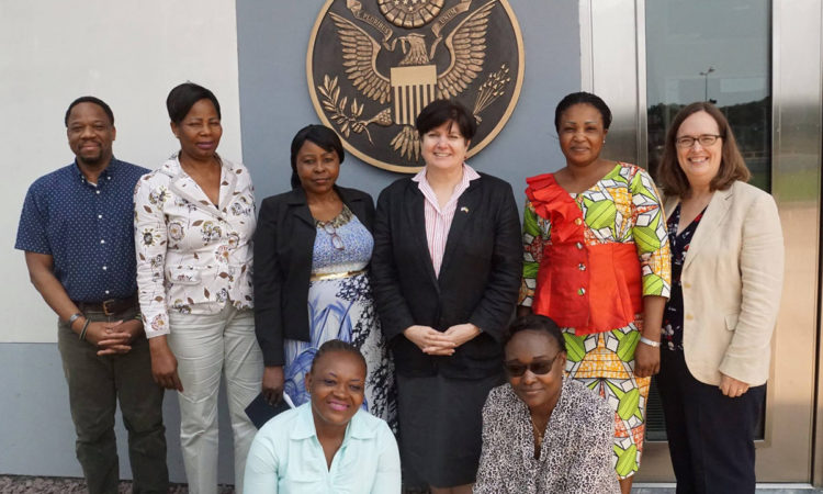 Ambassador Sullivan congratulates Congo-B's first female law enforcement officers cohort to attend I