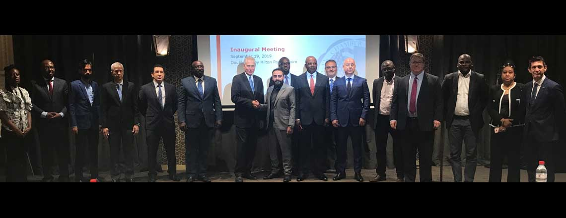 Ambassador Haskell Inaugurates the First Meeting of Congo's American Chamber of Commerce