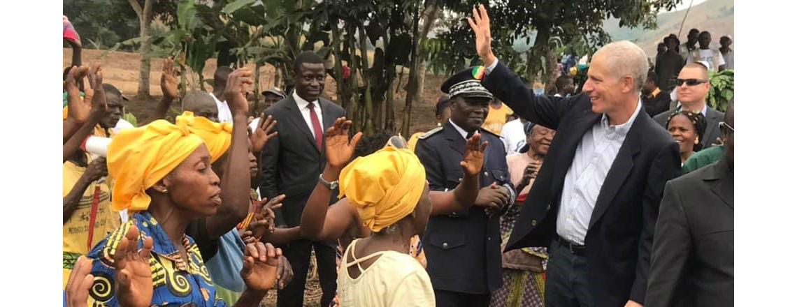 Ambassador's Visit to Mindouli Highlights Fish Farm Rehabilitation Project