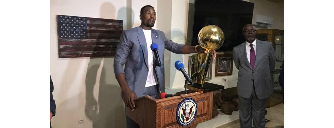 U.S. and Canadian Ambassadors Host NBA Champion Serge Ibaka