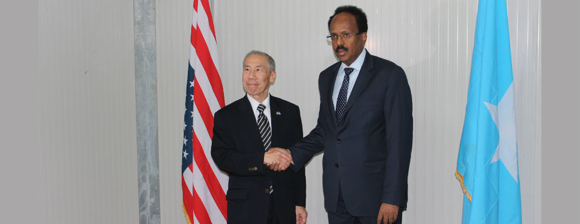 Ambassador Don Yamamoto Presents Credentials to Somali President Mohamed Farmaajo