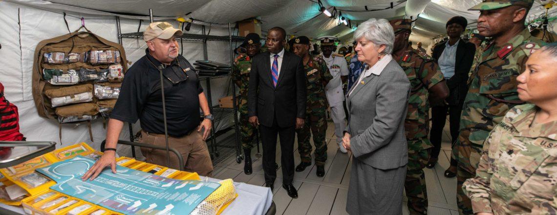USA and Ghana Security Partnership Combats Coronavirus (COVID-19)