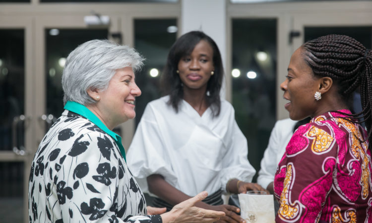 Ambassador Sullivan interacting with 2019 Mandela Washington Fellows.
