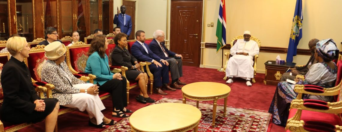 U.S. Congressional Delegation Meets President Barrow, National Assembly Members