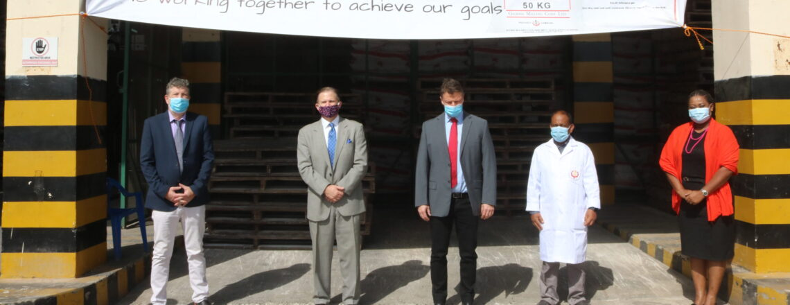 Ambassador Paschall Inspects Gambia Milling Corporation Plant