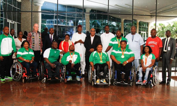 Nigeria's Paralympic athletes with USAID Blair King