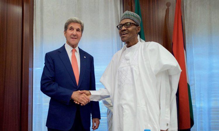 Secretary John Kerry meets President Muhammadu Buhari