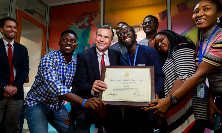 U.S. Ambassador Presents Secretary of State Award for Corporate Excellence to Andela