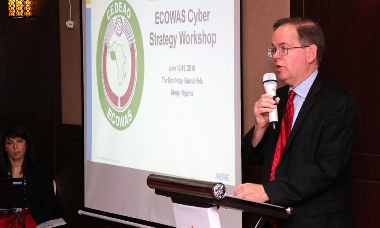 Deputy Chief of Mission David Young speaking at the ECOWAS Cybersecurity Strategy Workshop in Abuja - June 13, 2017