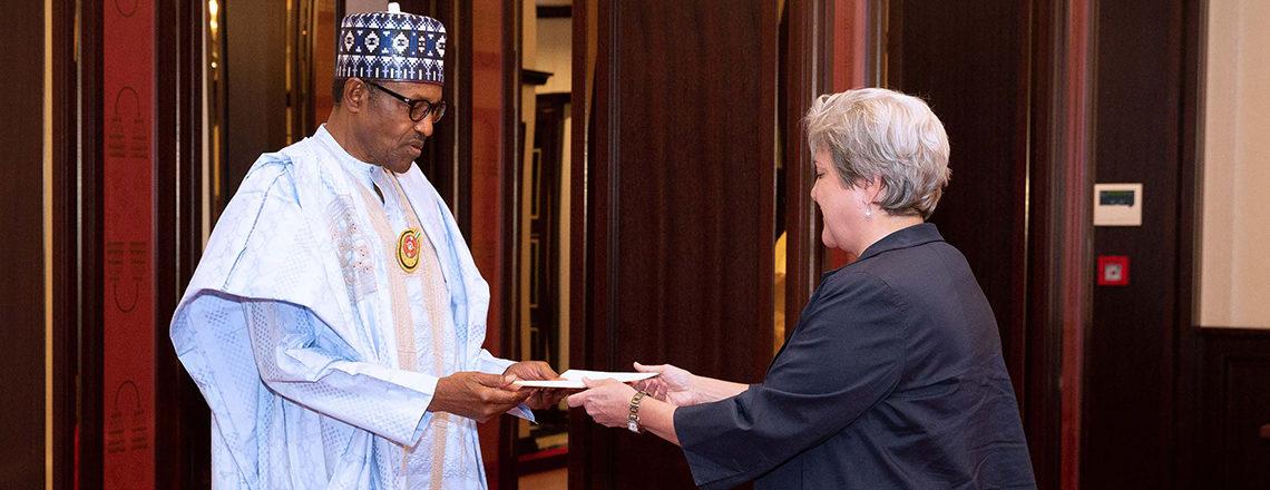 U.S. Ambassador Mary Beth Leonard Presents Credentials to the Government of Nigeria