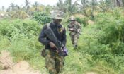 An officer of the Nigerian Navy Special Boat Service (left) during the five-week Joint Combined Exchange Training (JCET) alongside a team of U.S. Army Special Forces