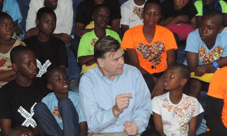 Ambassador W. Stuart Symington in Makoko Community, Lagos