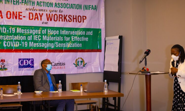 Dr. Mary Adetinuke Boyd, U.S. CDC Country Director, making a presentation at the Messages of Hope Event in Lagos, Nigeria