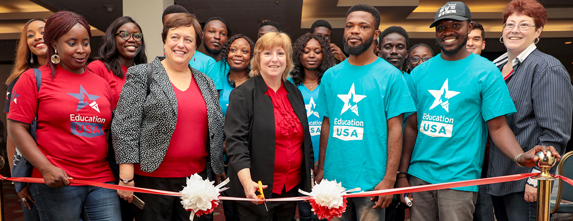 Chargé d'Affaires Kathleen FitzGibbon Welcome Remark at the 2019 EducationUSA College Fair