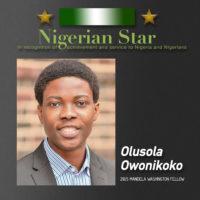 Nigerian Star Olusola Owonikoko