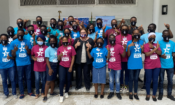 United States Consul General Claire Pierangelo with the 2021 Opportunity Funds Program Scholars during a reception held in honor of the U.S.-bound students in Lagos on Thursday
