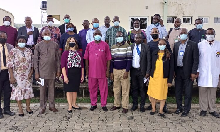 Pose with stakeholders at the Benue State University Teaching Hospital
