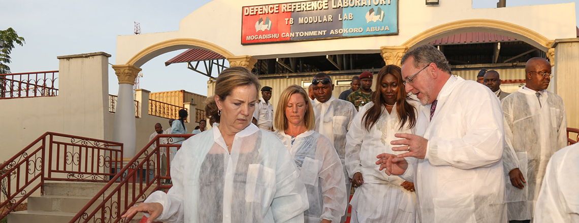 U.S. Leader Lauds Partnership between NMOD and U.S. Army to Improve Health of Nigerians