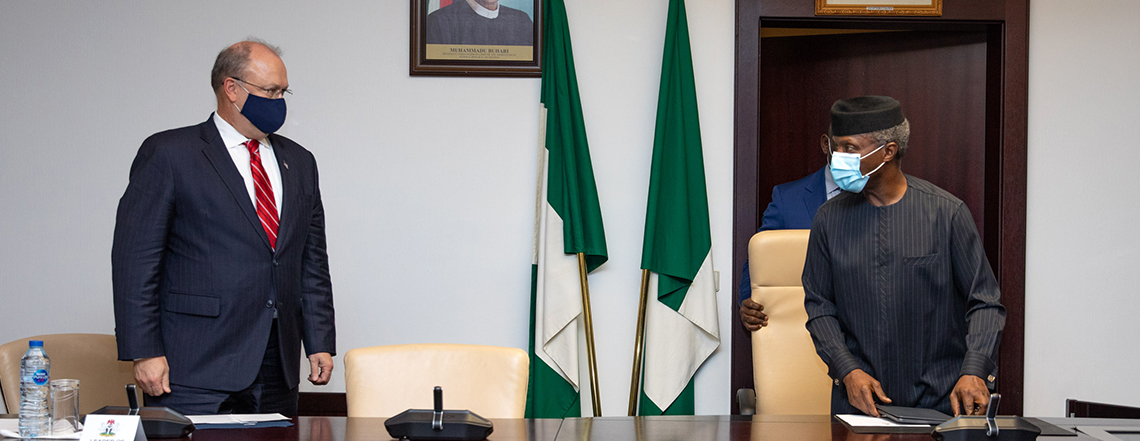 Read-Out: Counselor Brechbühl's Meeting with Nigerian Vice President Osinbajo