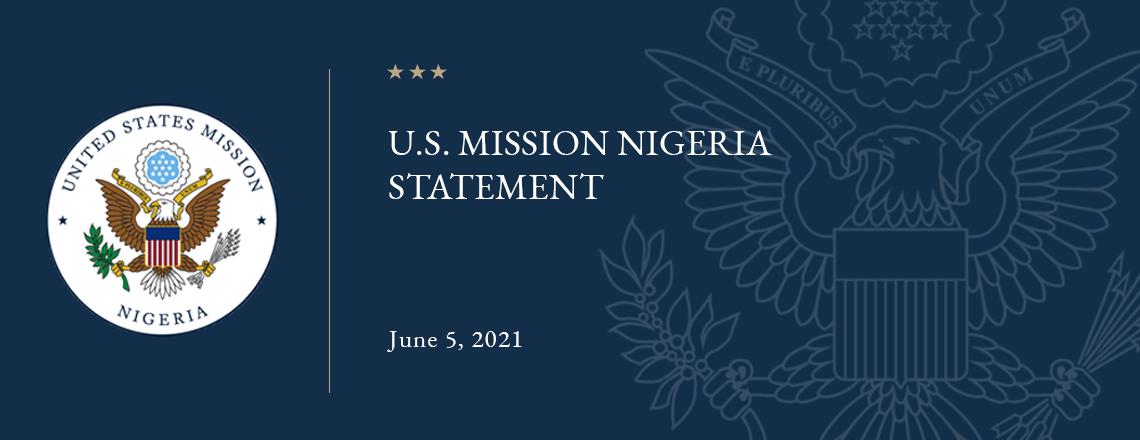 U.S. Mission Nigeria Statement – re Twitter Ban