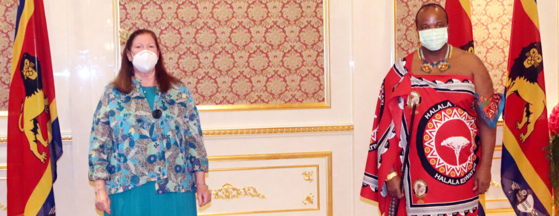 Ambassador Maloney Presents Letter of Credence to King Mswati III