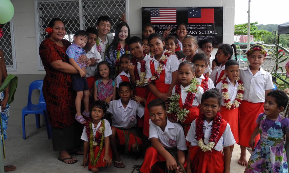 United States Government funds construction and complete rebuild of Lalomauga Primary School. Photo credit: U.S. Department of State.
