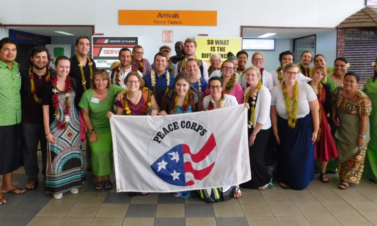 PCV Group 88 with Peace Corps Samoa staff. Photo credit: U.S. Department of State.