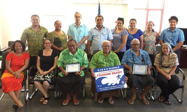 Savaia, on the southern coast of Upolu, will be recognized by the UNESCO Intergovernmental Oceanographic Commission (IOC) as Samoa's first Tsunami Ready community at a ceremony on June 20, 2017 at the Ministry of Natural Resources and Environment (MNRE), TATTE Building. Samoa is the first Pacific Island Country to implement the program. Photo credit: U.S. Embassy Samoa.