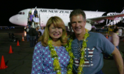 U.S. Ambassador Scott Brown and Mrs. Gail Brown arrive in Beautiful Samoa for their inaugural trip. Photo credit: U.S. Department of State.